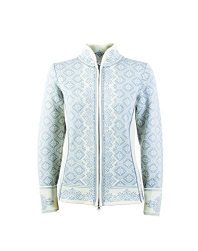 Dale of Norway Damen Christiania Sweater, Grauweiß/Blaugrau, XL