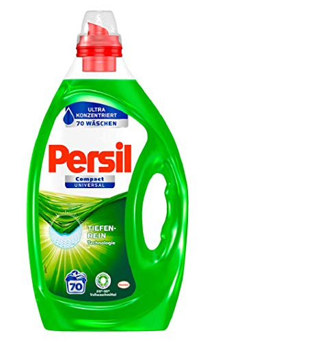 Persil Compact Universal Gel, Flüssigwaschmittel, Ultra Konzentriert, 140 (2 x 70) Waschladungen für hygienisch reine Wäsche