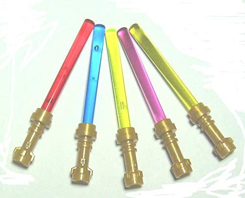 Lego Star Wars 5 Laserschwerter mit Goldgriff
