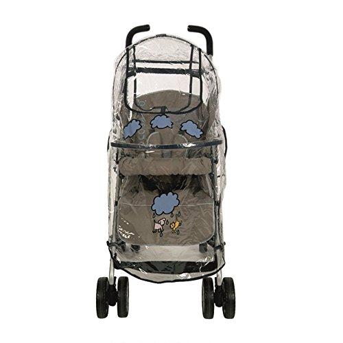 Garessi 9002N - Burbuja de lluvia universal para silla de paseo, diseño de nubes