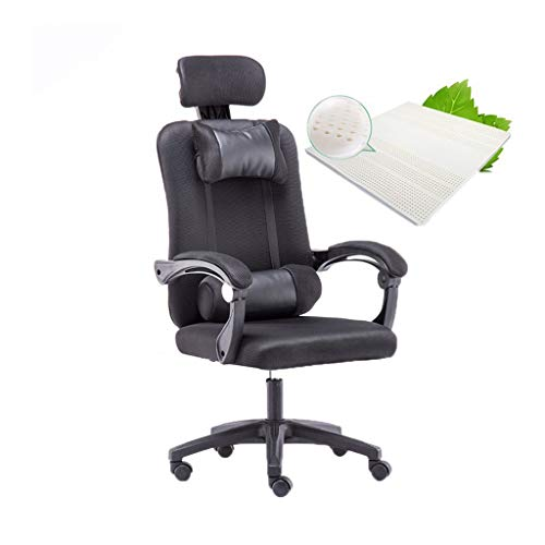 Comfortabele gastenstoel-ChangSQ Task Computer Stoel, Soft Lekker Computer Game Chair Draaibaar Lifting Conferentiestoel Household Office Chair Kantoorproducten (Color : Black)