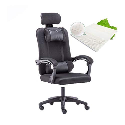 Schilderen ontwerp Task Computer Stoel, Soft Lekker Computer Game Chair Draaibaar Lifting Conferentiestoel Household Office Chair Office essentieel (Color : Black)