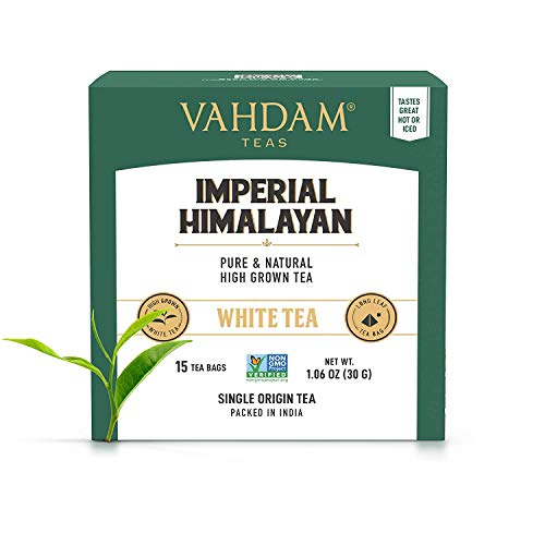 VAHDAM, Thé Blanc Impérial De L'Himalaya, 15 Sachets...