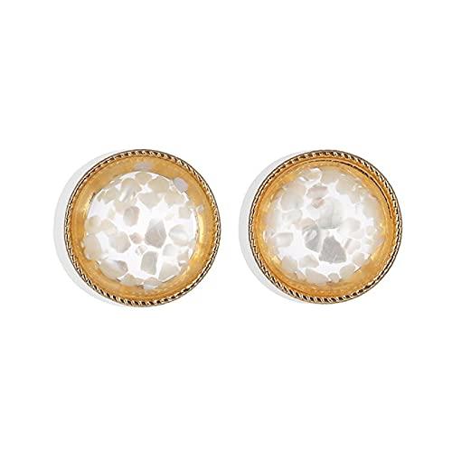FEARRIN Pendientes Vintage Bohemain, Pendientes de botón con Forma de corazón Brillante para Mujer, Pendientes pequeños de Moda con Forma Redonda de Amor, joyería para Mujer