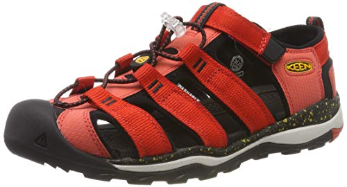KEEN Unisex-Kinder Newport NEO H2 Aqua Schuhe, Mehrfarbig (Fiery Red/Golden Rod 1020609), 30 EU