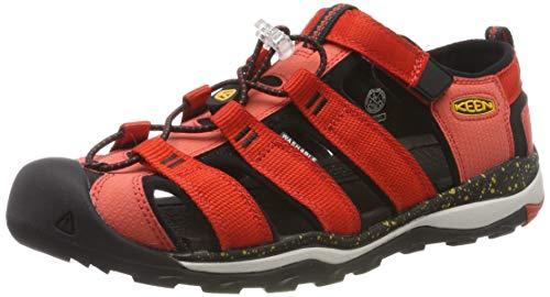 KEEN Unisex-Kinder Newport NEO H2 Aqua Schuhe, Mehrfarbig (Fiery Red/Golden Rod 1020609), 29 EU