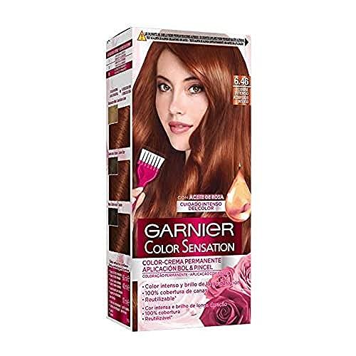 Garnier Color Sensation Intensissimos Coloration Permanente 60 ml, 6.46 Cuivre intense