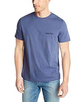 Nautica Men s Short Sleeve Solid Crew Neck T-Shirt Blue Indigo Large