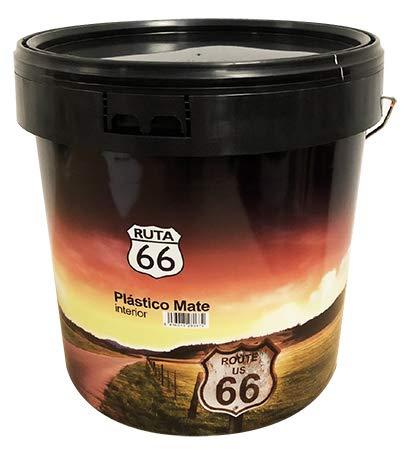 Pintura plastica mate Ruta 66 interior,economica con buena calidad de cubricion y blancura (4 Lt)