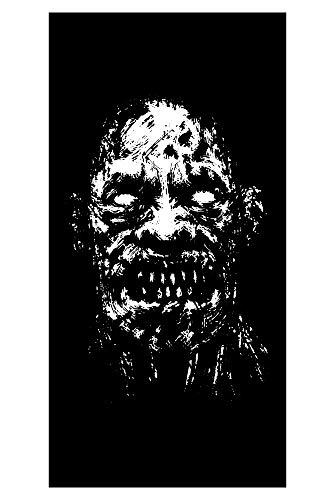 LimeWorks Toalla de Baño, 70x140 cm, Horror Monstruo Blanco y Negro
