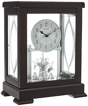 Bulova B1534 Empire Mantel Clock Espresso Brown