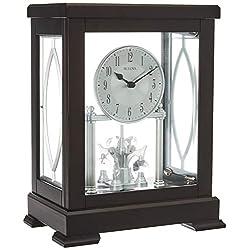 Bulova B1534 Empire Mantel Clock, Espresso Brown