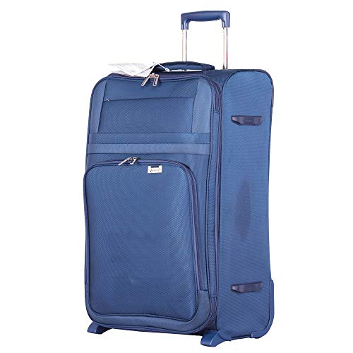 """Aerolite Large 29"""" Ultra Lightweight Expandable 2 Wheel Travel Trolley Hold Check in Luggage Suitcase, Navy Blue"""