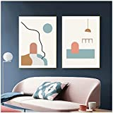 djnukd Minimalist Archway Poster Abstract Road Canvas Painting Sun Set Art Print Modern Wall Picture For Living Room Home Decor 40X60Cmx2 No Frame