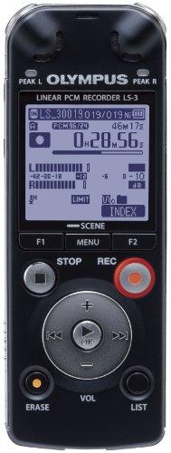 Olympus LS-3 Digitaler PCM-Rekorder (4 GB interner Speicher, 24bit/96kHz)
