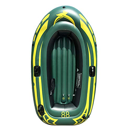 Yocalo Inflatable Boat Series,raft Inflatable Kayak, Fishing Boat Kayak,1-2 Person Boat with Aluminum Oars, Cushion, Rope,Repair Patch and High Output Hand Pump