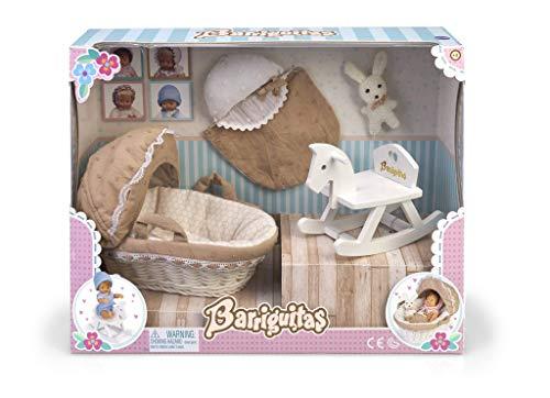 los Barriguitas- Set de capazo, Caballito balancín y Accesorios para bebé (Famosa 700015558)