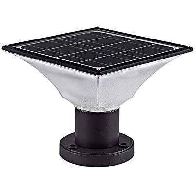 Solar Post Cap Lights Outdoor,Dusk to Dawn Auto On/Off Solar Powered Post Lights Fits Most Posts