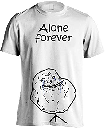 Fruit Of The Loom Forever Alone Tshirt, S