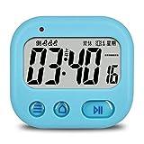 JJIAOJJ Reloj Despertador Reloj de Doble Uso de la vibración Simple y Moderna dedicada para los sordos y la Naranja muda (Color : Blue)