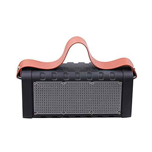 GUOOO Altavoz Bluetooth, Efecto estéreo fácil de Transportar, Bluetooth 5.0, Adecuado para el hogar, Viajes, al Aire Libre, etc. 29.4 × 8.2 × 19.6 cm Black