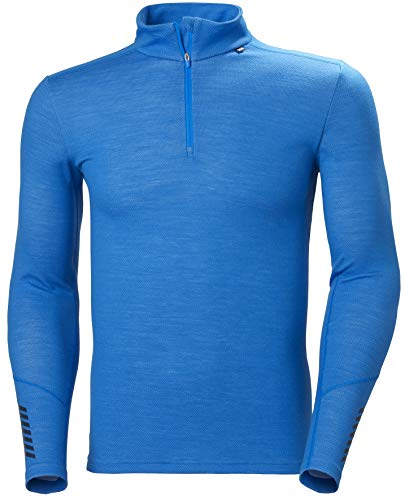 Helly Hansen LIFA Merino Midweight 1/2 Zip, Tshirt Uomo, Electric Blue, 2XL
