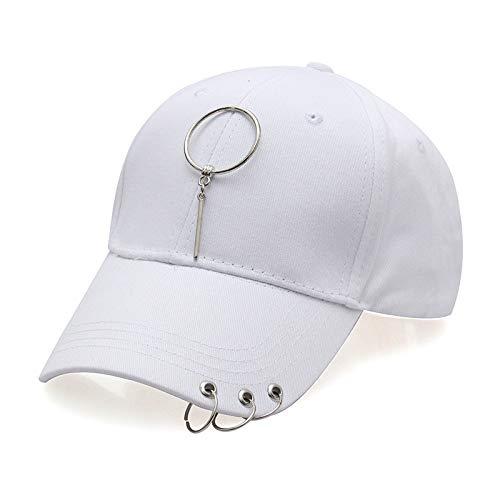 Zlhcich Anillo Acero Streamer Hat Pareja Gorra aro