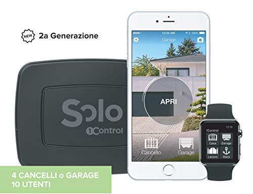 1Control - Abridor de Puerta y Garaje con Bluetooth LE 4.0 para Smartphones iPhone y Android, con gestión de accesos, para 10 usuarios y 4 Canales/Puertas