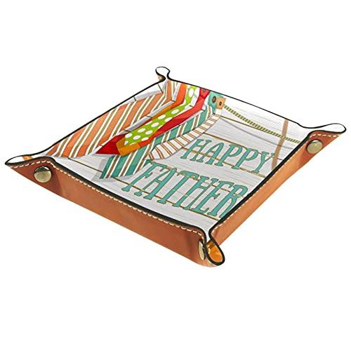LXYDD Bandeja de Valet de Cuero Multiusos Caja de Almacenamiento Organizador de bandejas Se Utiliza para almacenar pequeños Accesorios,Corbatas Zapatos cámara caña de Pescar Vacaciones Saludo