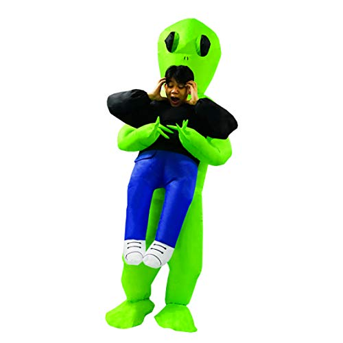 PARAYOYO Inflable Alien Hijack Costume Adult Fancy Suit Party Dress para Hombres Mujeres Halloween Verde