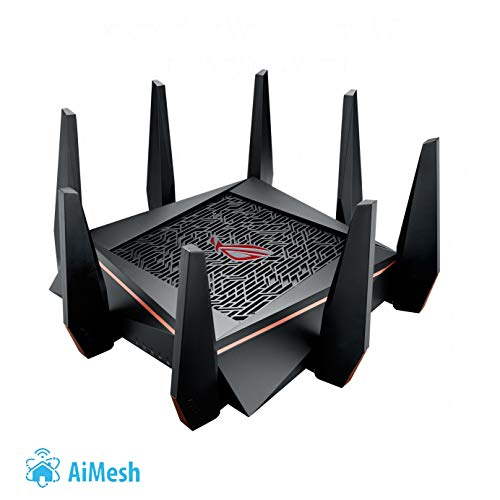Asus GT-AC5300 ROG Rapture Gaming Router (Ai Mesh WLAN System, WiFi 5 AC5300, Gaming Engine, 8x Gigabit LAN Link Aggregation, App Steuerung, AiProtection, Multifunktion USB 3.0)
