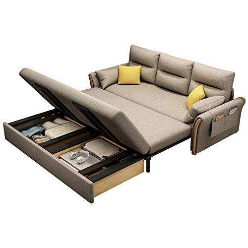 70.9' Width Couch Sleeper, 3 in 1 Compact Velvet Sofa Couch with Pull Out Bed for Living Room or Bedroom,Latex filling