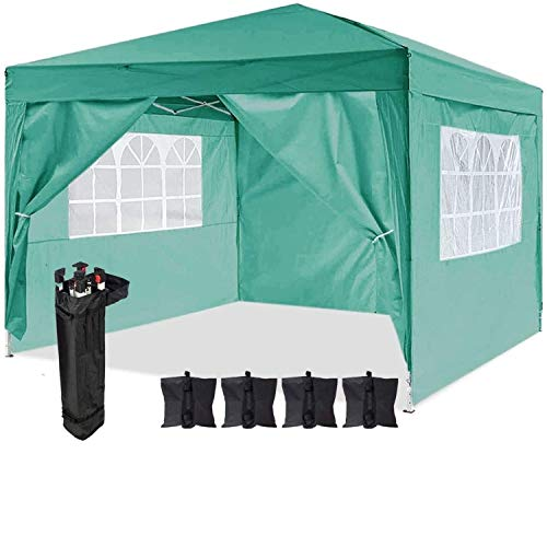 Dawsons Living Waterproof Pop Up Gazebo - 3m x 3m Pop Up Outdoor Garden...