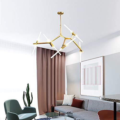 LAAL Nordischer Stil 10 Geführt Wohnzimmerlampe Restaurant Schlafzimmer Retro Postmodern Licht Luxus-Eisen Kreative Lampen Einstellbare Höhe Schmiede Kronleuchter