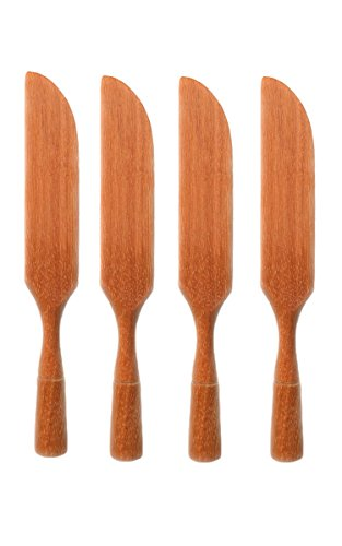 RAINBOW Wooden Butter Knife Cheese Spreaders, set of 4