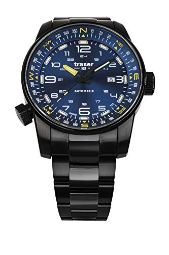 Traser H3 P68 Pathfinder Automatic Blue Tactical Watch Armbanduhr Edelstahlband