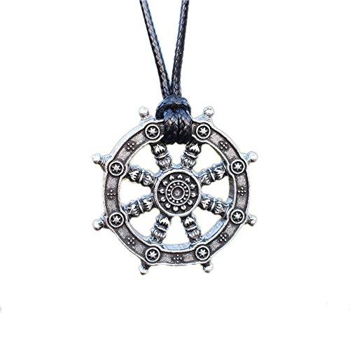 Dharma Wheel of Life Samsara Buddhist Amulet...