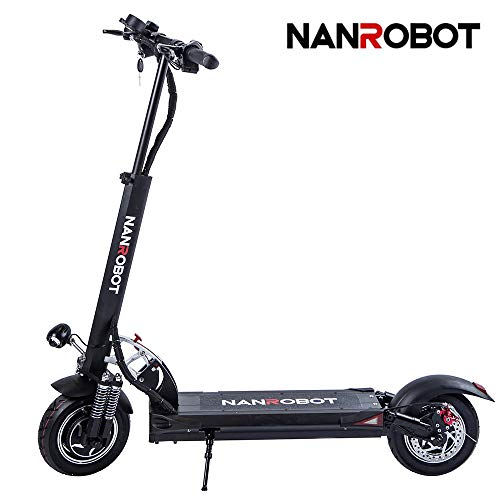 XINAO NANROBOT D5+ 2.0 Electric Scooter Foldable Lightweight Dual Motor 2000W, Max 40 MPH and 50Miles Range of Riding, Comuting Scooter for Adults
