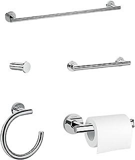 Hansgrohe Ensemble de 5 accessoires de Salle de bain Logis Chrome 41728000