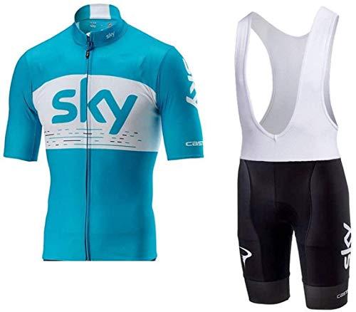 Sommer Herren Blue Sky Kurzarmtrikot Komfortables, atmungsaktives Fahrradtrikot,01,M (6XL)