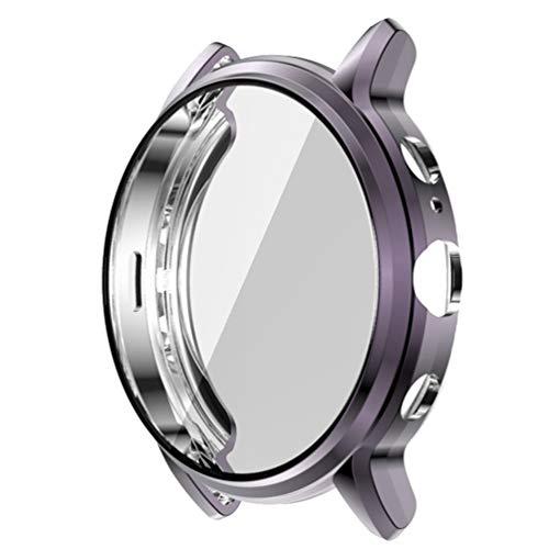 POPETPOP Smart Watch Tpu Bumper Case Capa de Armação Protetora Shell à Prova de Choque Anti Scratch Smartwatch Protetor de Tela Compatível para Gen Fossil 5 The Carlyle Hr (Cinza)