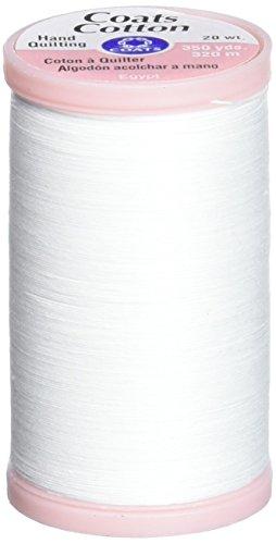 Coats & Clark Hand Quilting Baumwolle Gewinde, 350-yard, weiß