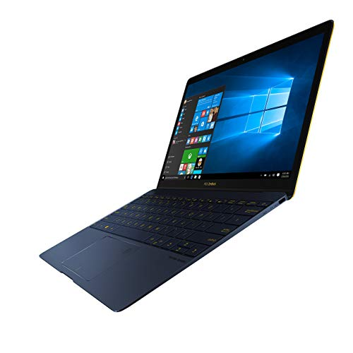 Asus Zenbook 3 UX390UA-GS041T 31,7 cm (12,5 Zoll Full-HD) Laptop (Intel Core i5-7200U, 8 GB Arbeitsspeicher, 512 GB SSD Festplatte, Intel HD-Grafik, Windows 10) blau (Generalüberholt)