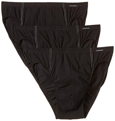 Schiesser Herren Slip 3 er Pack 005221-000, Gr. 7 (XL), Schwarz (000-schwarz)