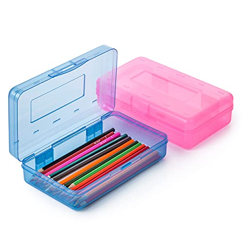 Mr. Pen- Pencil Box, 2 Pack, Assorted Color, Pencil Case for Kids, Pencil Box for Kids, Plastic...
