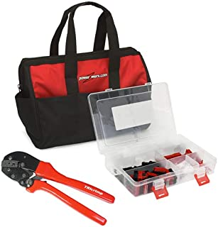 Powerwerx 150 Pieces Anderson Powerpole Connector Kit, with Crimping Tool and Nylon Storage Bag