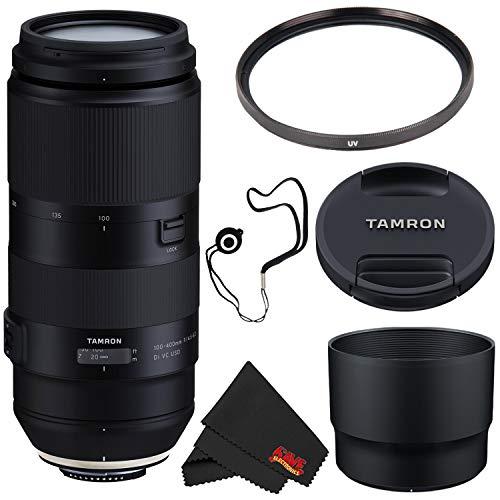 400mm nikon lens Tamron 100-400mm f/4.5-6.3 Di VC USD Lens for Nikon F AFA035N-700 (International Model) + 72mm UV Filter + Lens Cap Keeper + Microfiber Cloth Bundle