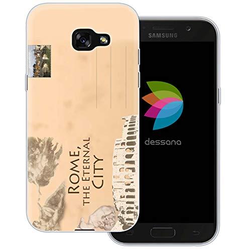 dessana postzegels transparante beschermhoes mobiele telefoon case cover tas voor Samsung Galaxy A J, Samsung Galaxy A5 (2017), Ansichtkaart Rome