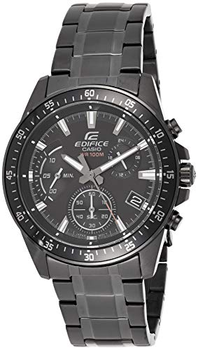 Casio EDIFICE Reloj en caja sólida, 10 BAR, Negro, para Hom