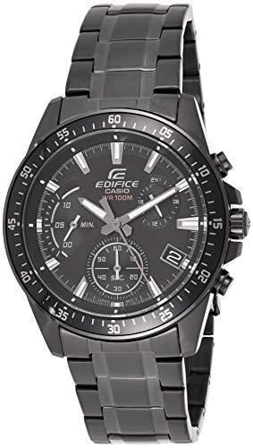 Casio EDIFICE Reloj en caja sólida, 10 BAR, Negro, para Hombre, con Correa de Acero inoxidable, EFV-540DC-1AVUEF